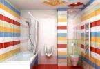 rengarenk banyo dekorasyonu