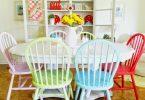 renkli mutfak sandalye fikirleri 2017