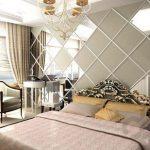 yatak odası ayna kaplama duvar dekorasyonu