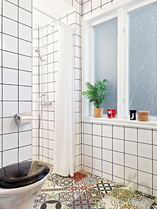 zarif patchwork banyo dekorasyonu