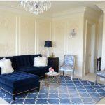 baskın mavi ile oturma odası dekorasyonu