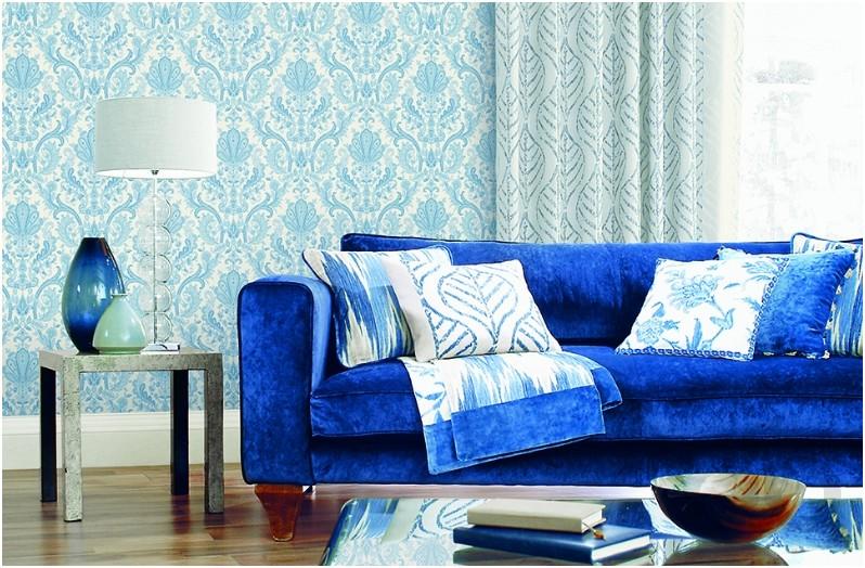 dekorasyonda mavi çekiciliği