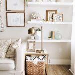 dekoratif beyaz duvar rafları