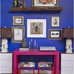 kobalt mavisi duvar dekorasyonu