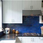 kobalt mavisi mutfak dekorasyonu 2017