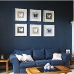 koyu mavi salon örnekleri