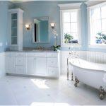 mavi romantik banyo dekorasyonu 2017