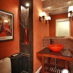 turuncu banyo dekorasyonu (2)