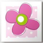 bebek odası için pembe çiçek tablo