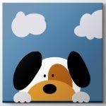 bebek odası için sevimli köpek tablo