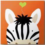 çocuk odası için sevimli zebra tablo