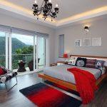 kırmızı yatak odası dekorasyonu
