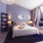 lavanta rengi duvar kağıdı ile muhteşem yatak odası