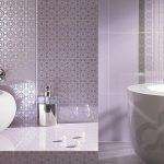 lavanta rengi modern banyo dekorasyonu