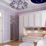 lavanta rengi modern yatak odası