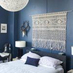 yatak odasında makrome duvar dekorasyonu