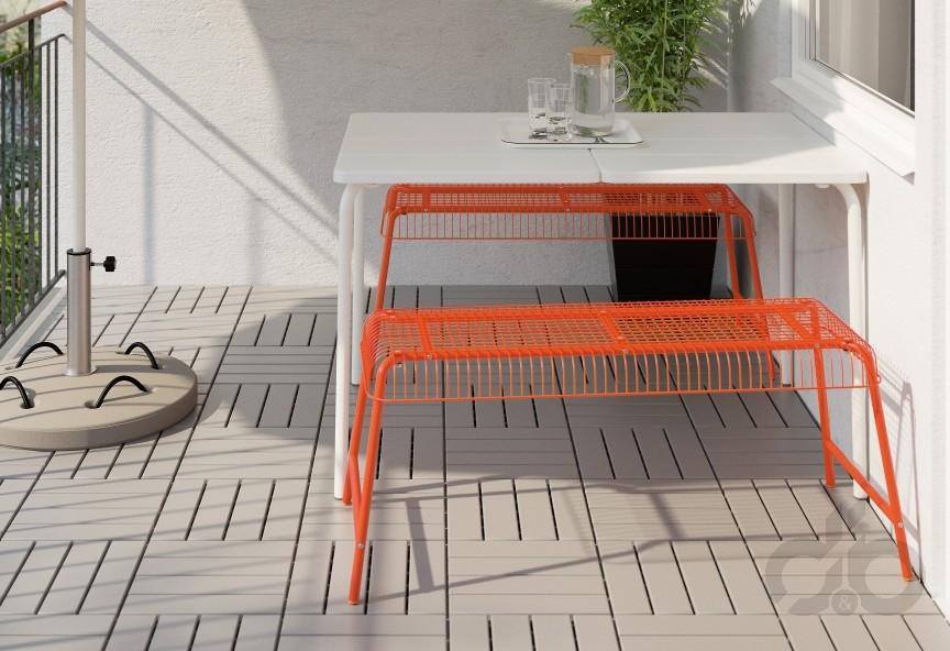 Ikea Balkon Bank.Bahçe Ve Balkon Için Ikea Turuncu Bank Dekorblog