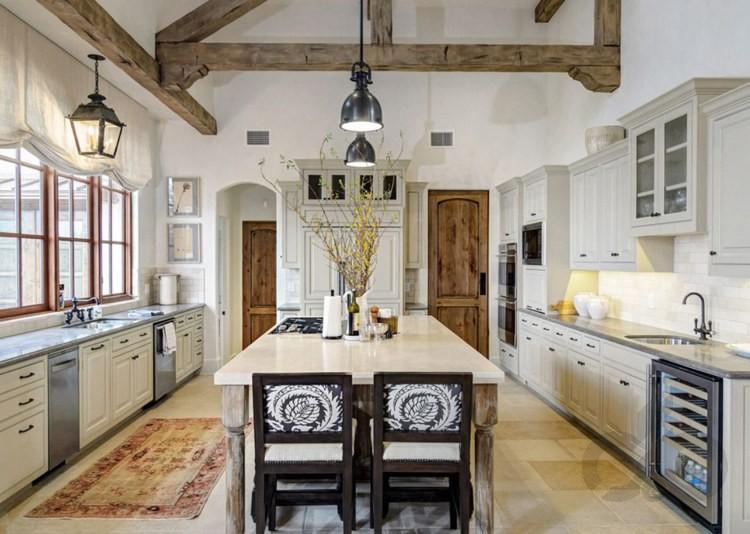 modern rustik mutfak dekorasyonu