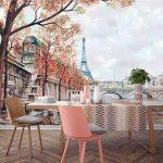 paris temalı dekoratif duvar posteri 2017