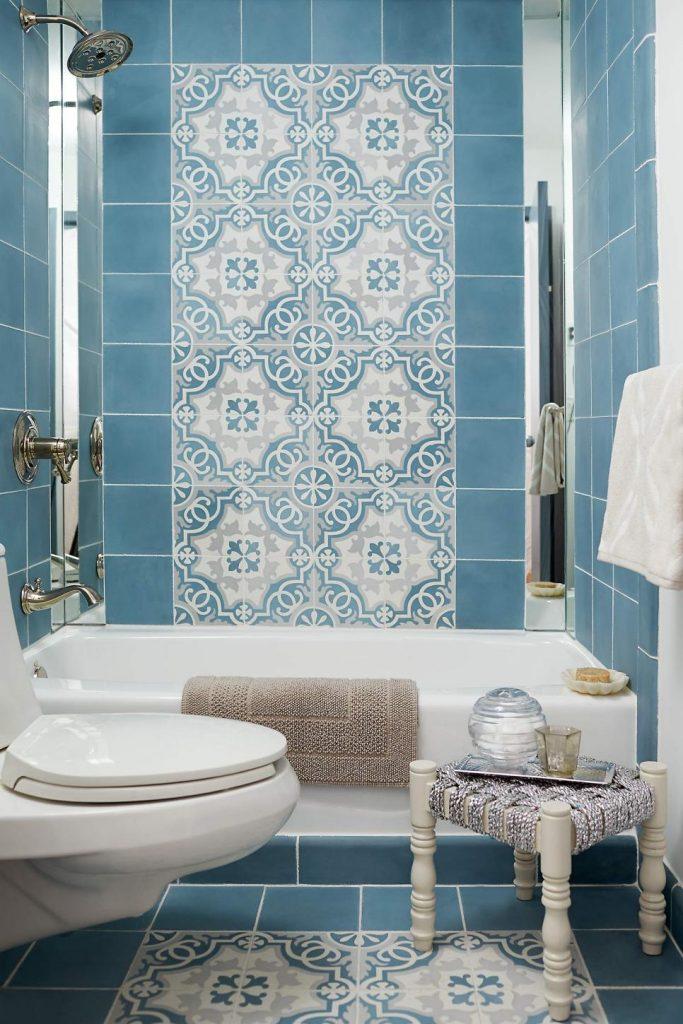 Mavi Renkli Banyo Modelleri