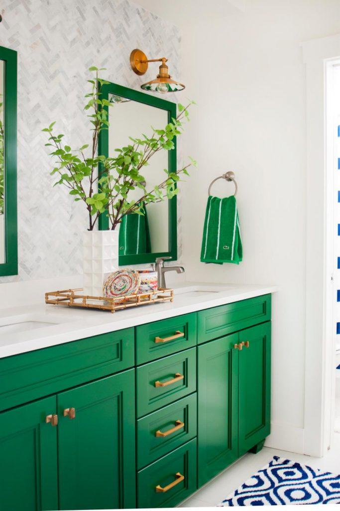 Yeşil Renkli Banyo Modelleri