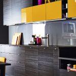 sarı gri mutfak dekorasyonu
