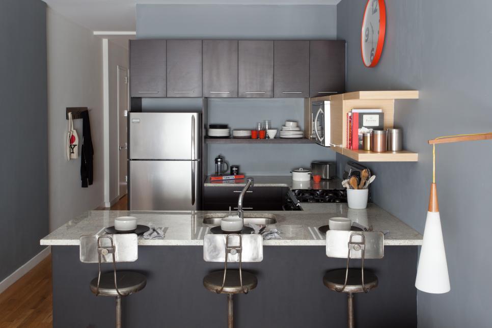 Koyu Renk Mutfak Dekorasyonu