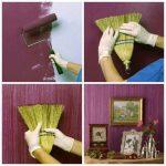 farklı bir duvar kağıdı boı-oyama tekniği ile boyanabilir duvar kağıtları