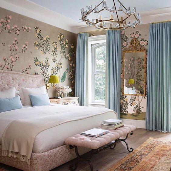 2019 yatak odası perde modelleri