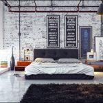 endüstriyel tarz yatak odaları