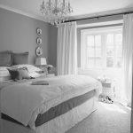 Gri Beyaz Yatak Odası Dekorasyonuları