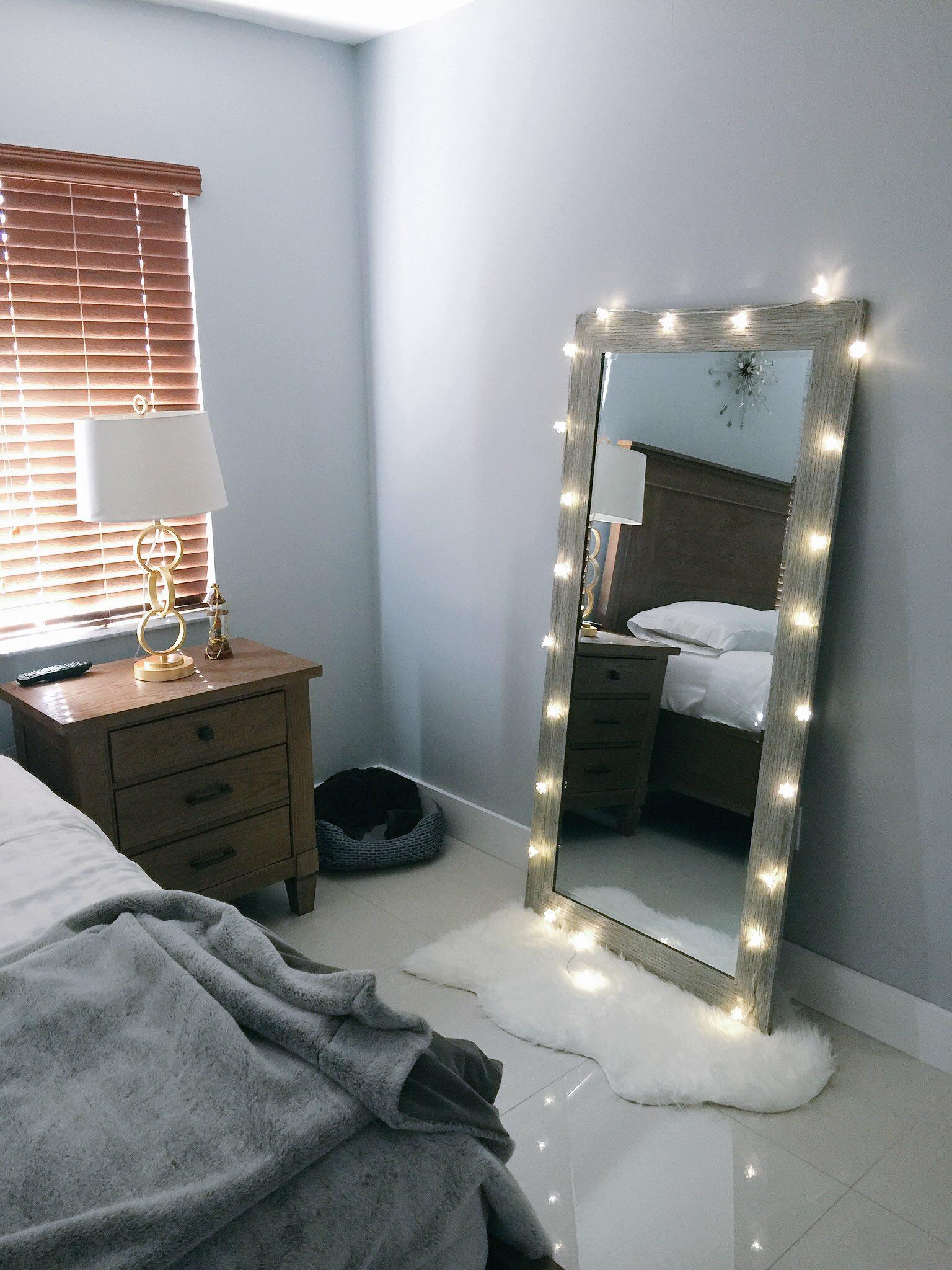 gri yatak odası dekorasyonları