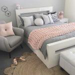gri yatak odası dekorasyonlarıü