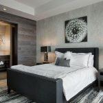 gri yatak odası dekorasyonlarıu