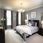 gri yatak odası dekorasyonu,