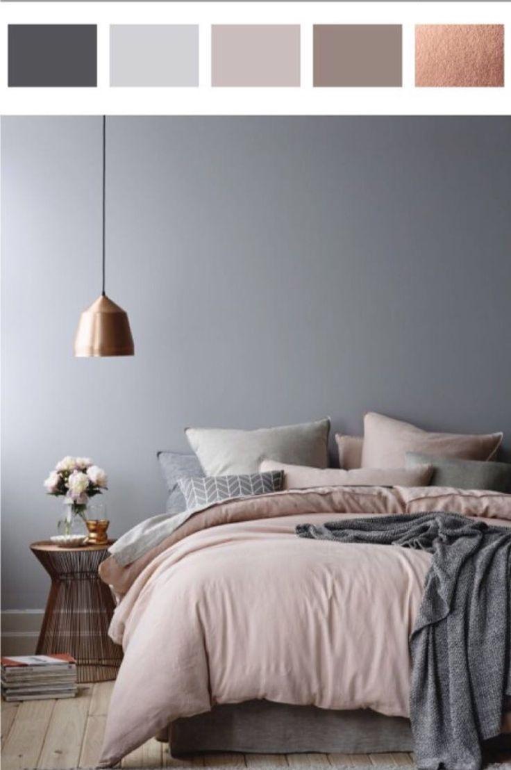 gri yatak odası dekorasyonu,,