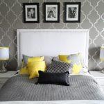 gri yatak odası dekorasyonu,i