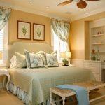 şık yatak odası perde modelleri