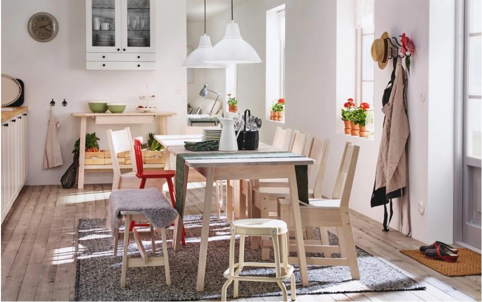 Farklı Tipteki Sandalyelerin kombinasyonu