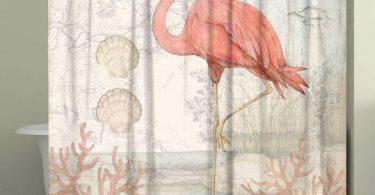 Flamingo Figürlü Banyo Perdesi