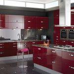 kırmızı mutfak dekorasyon fikirlri
