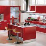 kırmızı mutfak dekorasyon örneklerii