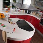 kırmızı mutfak dekorasyon örneklerii,i