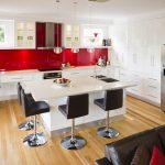 kırmızı mutfak dekorasyonları,