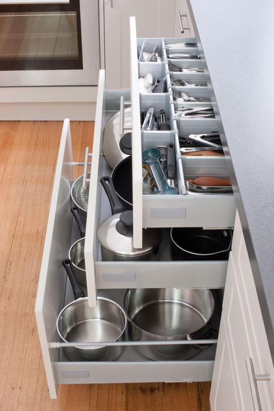 Mutfak Düzeninde dolapların etkisi çok önemlidir.