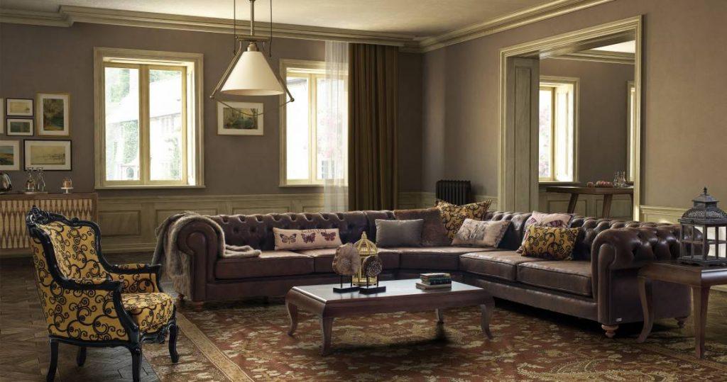 Kahverengi Koltuk Takimi Dekorasyonu Ve Kombinasyonlari