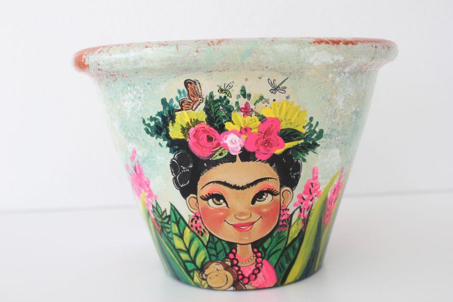 Frida Kahlo Saksı Yapımı
