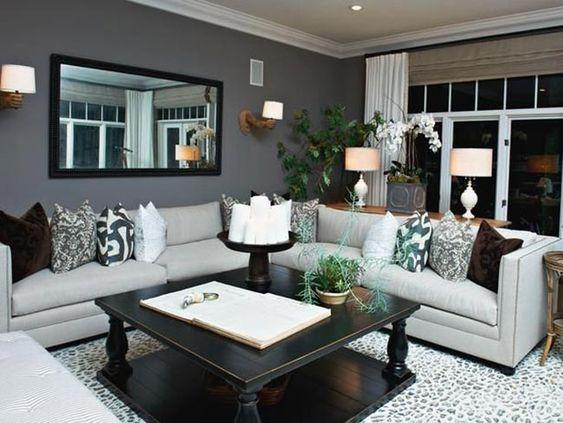 Gri Oturma Odası Dekorasyonu Örnekleri