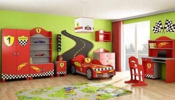 Araba Şeklindeki Yataklar ile Genç Odaları