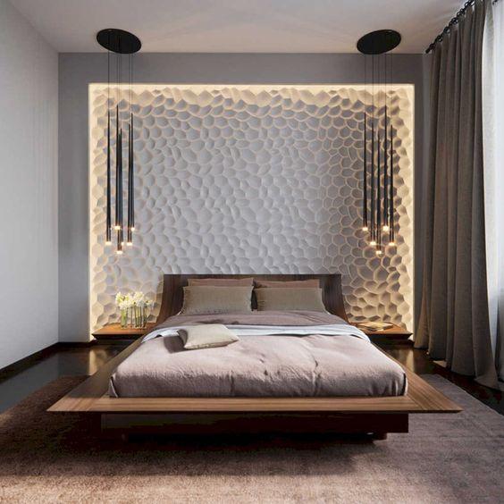2019 Yatak Odası Aydınlatma Dekorasyonu